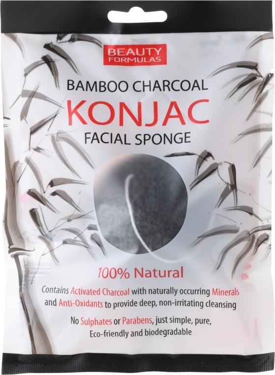 Burete pentru curățarea feței - Beauty Formulas Konjac Bamboo Charcoal Facial Sponge