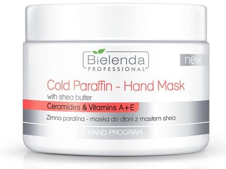 Mască cu parafină rece pentru mâini, cu extract de unt de Shea - Bielenda Professional Cold Paraffin Hand Mask With Shea Butter (400 g)