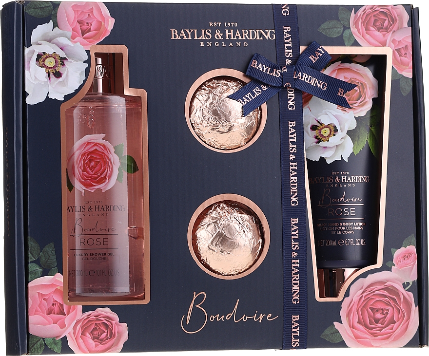 Set - Baylis & Harding Boudoire Rose (sh/gel/300ml + b/lot/200ml + bath/bomb/2x75g) — Imagine N1