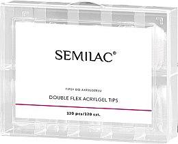 Parfumuri și produse cosmetice Tipsuri pentru alungirea unghiilor - Semilac Double Flex Acrylgel Dual Tips