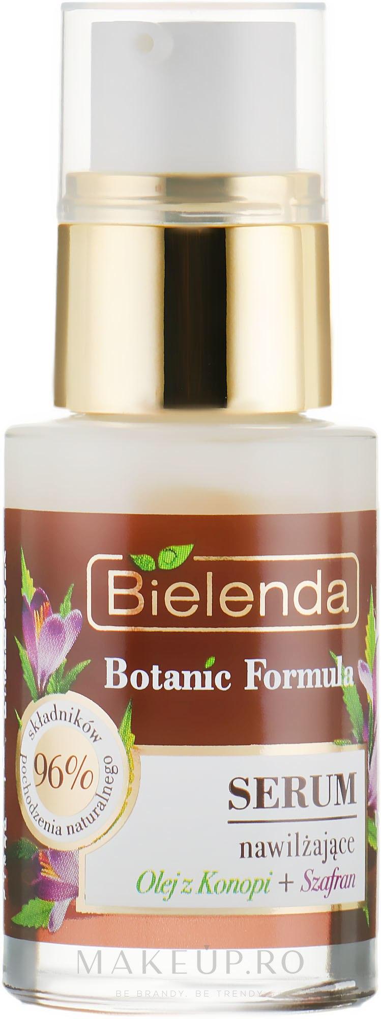 Ser hidratant pentru față - Bielenda Botanic Formula Hemp Oil + Saffron Moisturizing Serum — Imagine 15 ml