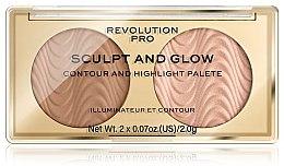 Parfumuri și produse cosmetice Paletă pentru contouring - Makeup Revolution Pro Sculpt And Glow
