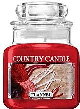 Parfumuri și produse cosmetice Lumânare aromată (borcan) - Country Candle Flannel