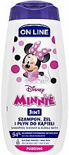Parfumuri și produse cosmetice Gel-șampon și spumă de baie 3in1, cu miros de budincă - On Line Kids Disney Minnie