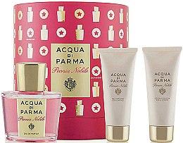 Parfumuri și produse cosmetice Acqua di Parma Peonia Nobile Set - Set (edp/100ml + sh/gel/75ml + b/cr/75ml)