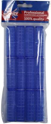 Bigudiuri cu arici 16/63, albastru - Ronney Professional Velcro Roller — Imagine N1