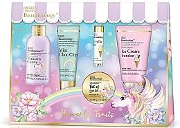 Parfumuri și produse cosmetice Set - Baylis & Harding Beauticology Unicorn Assorted Set (bath/soak/70ml+b/wash/50ml+sh/cr/60ml+h/cr/30ml+/lip/balm/5g)