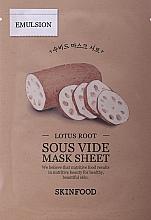Parfumuri și produse cosmetice Mască din țesătură cu extract de rădăcină de lotus pentru față - Skinfood Lotus Root Sous Vide Mask Sheet
