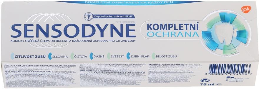 """Pastă de dinți """"Protecție completă"""" cu fluor - Sensopdyne Toothpaste — Imagine N1"""