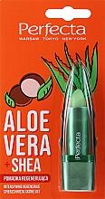 """Parfumuri și produse cosmetice Ruj igienic regenerant """"Aloe Vera și Unt de Shea"""" - Perfecta Aloe Vera + Shea Lip Balm"""