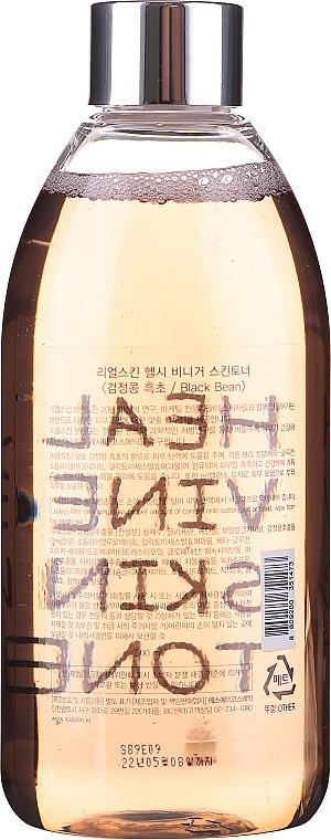 "Toner facial ""Fasole neagră"" - Real Skin Healthy Vinegar Skin Toner Black Bean — Imagine N2"