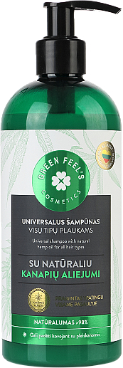 Șampon universal cu ulei natural de cânepă - Green Feel's Hair Shampoo