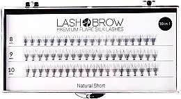 Parfumuri și produse cosmetice Gene false - Lash Brown Premium Flare Silk Lashes Natural Short