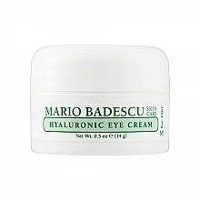 Parfumuri și produse cosmetice Cremă cu acid hialuronic pentru zona din jurul ochilor - Mario Badescu Hyaluronic Eye Cream