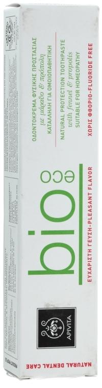 """Pastă de dinți """"Protecție naturală"""" cu fenicul și propolis - Apivita Healthcare Natural Dental Care Bio-Eco Natural Protection Toothpaste With Fennel & Propolis — Imagine N3"""