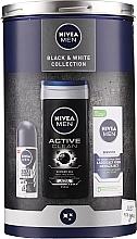 Parfumuri și produse cosmetice Set - Nivea Black & White Collection 2020 (cream/75ml + antiperspirant/50ml + sh/gel/250ml)