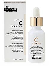 Parfumuri și produse cosmetice Ser cu efect iluminant pentru față - Dr. Brandt Bright This Way C Scription Brightening Serum