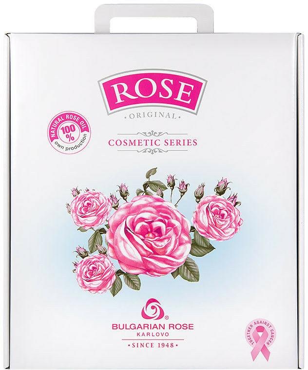 "Set cadou pentru femei ""Rose"" - Bulgarian Rose (cr/50ml + cr/50ml + micel wather/150ml + gel/150ml + soap/100g)"