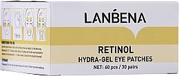 Parfumuri și produse cosmetice Patch-uri hidrogel anti-îmbătrânire cu retinol și colagen - Lanbena Retinol Collagen Hydra-Gel Eye Patch