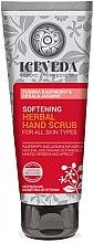 Parfumuri și produse cosmetice Scrub pentru mâini - Natura Siberica Iceveda Tundra Raspberry&Kerala Jasmine Softening Herbal Hand Scrub