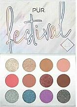 Parfumuri și produse cosmetice Paletă pigmenți pentru pleoape - Pur Festival 2.0 12-Piece Pressed Pigments Palette