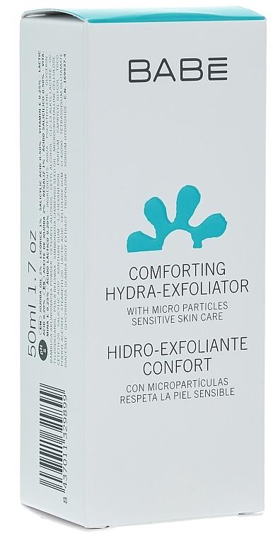 Scrub ușor hidratant pentru față - Babe Laboratorios Comforting Hydra-Exfoliator — Imagine N1