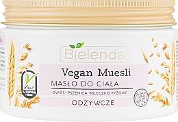 """Ulei nutritiv pentru corp """"Ovăz, grâu, lapte de orez"""" - Bielenda Vegan Muesli Nourishing Body Butter — Imagine N2"""