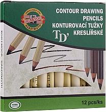 Parfumuri și produse cosmetice Creioane pentru ochi și sprâncene - Koh-I-Noor Contour Drawing Pencils (12buc)