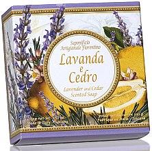 """Parfumuri și produse cosmetice Săpun natural """"Lavandă și Cedru"""" - Saponificio Artigianale Fiorentino Capri Lavender & Cedar"""