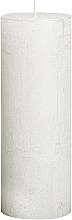 Parfumuri și produse cosmetice Lumânare cilindrică Metallic White, 190/68 mm - Bolsius Candle