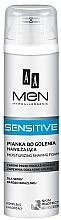 Parfumuri și produse cosmetice Spumă de ras - AA Men Sensitive Moisturizing Shaving Foam