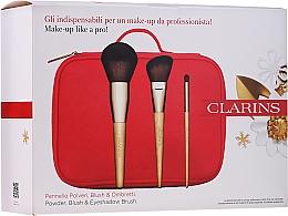 Parfumuri și produse cosmetice Set pensule de machiaj - Clarins (brush/3pcs + bag)