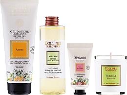 Parfumuri și produse cosmetice Set - Collines De Provence Gift Box (h/cr/30ml + shr/gel/200ml + candle/75g + aroma/diffuser/200ml)