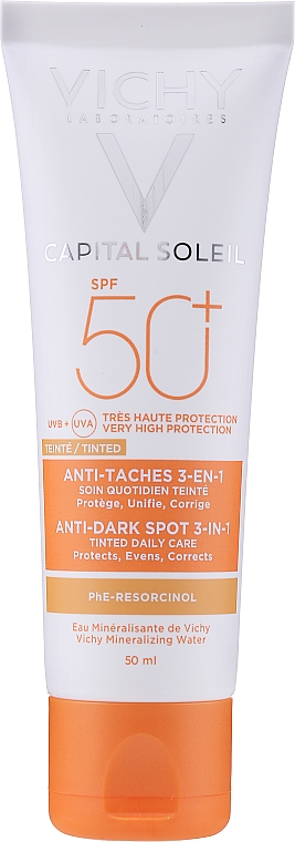 Cremă tonifiantă împotriva petelor pigmentare - Vichy Ideal Soleil Anti Dark Spot Spf 50