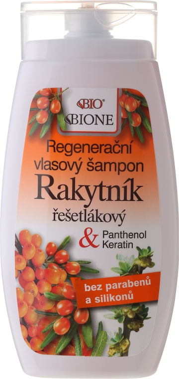 Șampon - Bione Cosmetics Sea Buckthorn Regenerating Hair Shampoo — Imagine N1