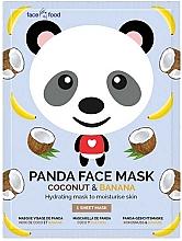 """Parfumuri și produse cosmetice Mască de țesut """"Panda"""" cu extract de banană și cocos - 7th Heaven Face Food Panda Face Mask Coconut & Banana"""
