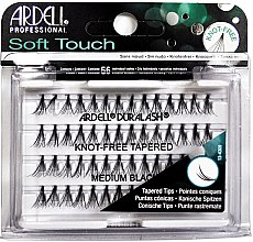 Parfumuri și produse cosmetice Set gene false individuale - Ardell Soft Touch Duralash Medium Black Tapered Tips