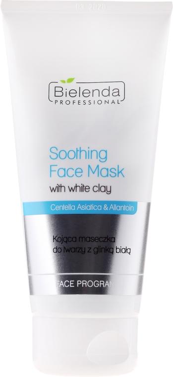Mască calmantă pentru față cu argilă albă - Bielenda Professional Face Program Soothing Face Mask With White Clay — Imagine N1