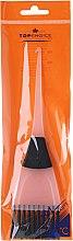 Parfumuri și produse cosmetice Pensulă pentru aplicarea vopselei de păr, 65002, alb+negru - Top Choice