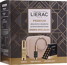 Parfumuri și produse cosmetice Set - Lierac Premium (capsules/30pcs + ser/30ml + eye/cr/15ml + pouch)