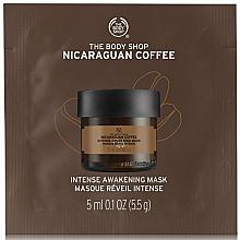 Parfumuri și produse cosmetice Mască tonifiantă de față - The Body Shop Nicaraguan Coffee Intense Awakening Mask (mostră)