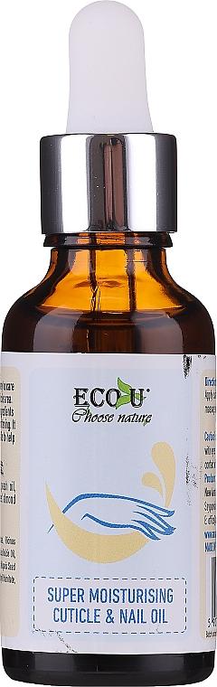 Ulei hidratant pentru cuticule și unghii - Eco U Cuticle & Nail Oil — Imagine N1
