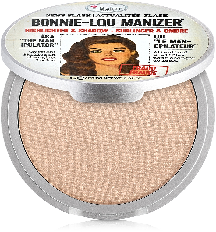 Iluminator, shimmer și fard - theBalm Bonnie-Lou Manizer Highlighter & Shadow (tester)