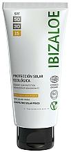 Parfumuri și produse cosmetice Cremă de protecție solară - Ibizaloe Organic Sun Protection SPF 15