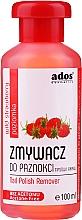 """Parfumuri și produse cosmetice Soluție pentru îndepărtarea ojei, fără acetonă """"Căpșună sălbatică"""" - Ados Nail Polish Remover"""