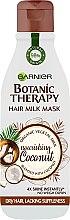 """Parfumuri și produse cosmetice Mască- lăptișor pentru păr normal și uscat """"Cocos"""" - Garnier Botanic Therapy Hair Milk Mask Coconut"""