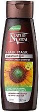 Parfumuri și produse cosmetice Mască pentru menținerea culorii părului vopsit - Natur Vital Coloursafe Henna Hair Mask Chestnut Hair