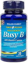 "Parfumuri și produse cosmetice Supliment alimentar ""Complex B cu vitamina C cu eliberare susținută"" - Holland & Barrett Timed Release Busy B Complex With Vitamin C 500mg"