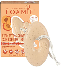 Parfumuri și produse cosmetice Săpun pe bază de sâmburi de caisă și unt de shea, pentru corp - Foamie Exfoliating Body Bar With Apricot Seeds & Shea Butter