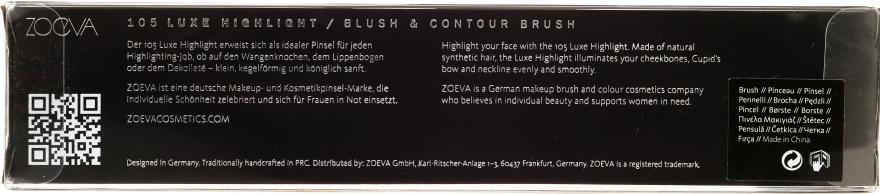 Pensulă pentru iluminator - Zoeva 105 Luxe Highlight — Imagine N3